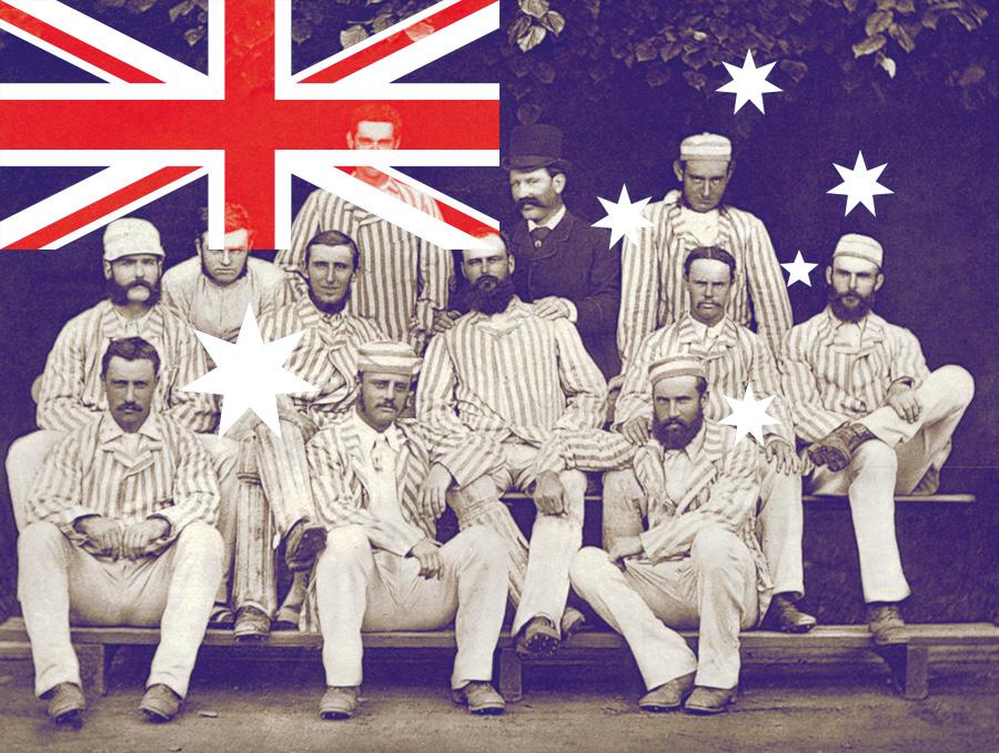 1878 में ऑस्ट्रेलिया की राष्ट्रीय क्रिकेट टीम।