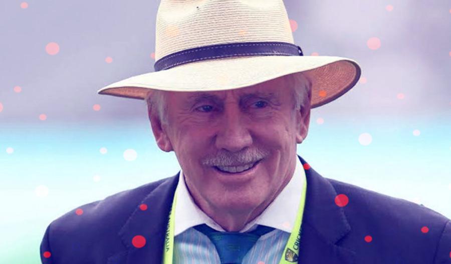 A former Australian cricket player Ian Chappell.